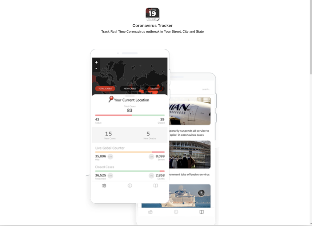 covid-19-app-ransomware-website