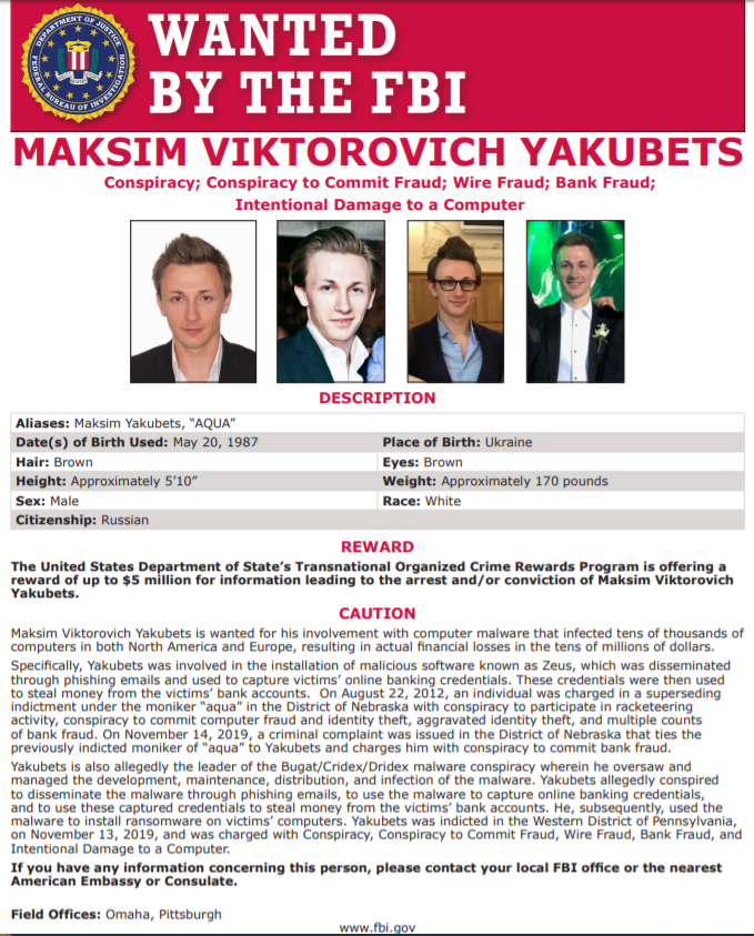 dridex-malware-evil-corp-wanted-poster