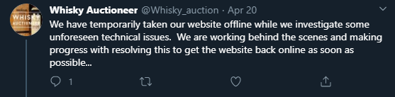whiskey-auction-ddos-attack-tweet